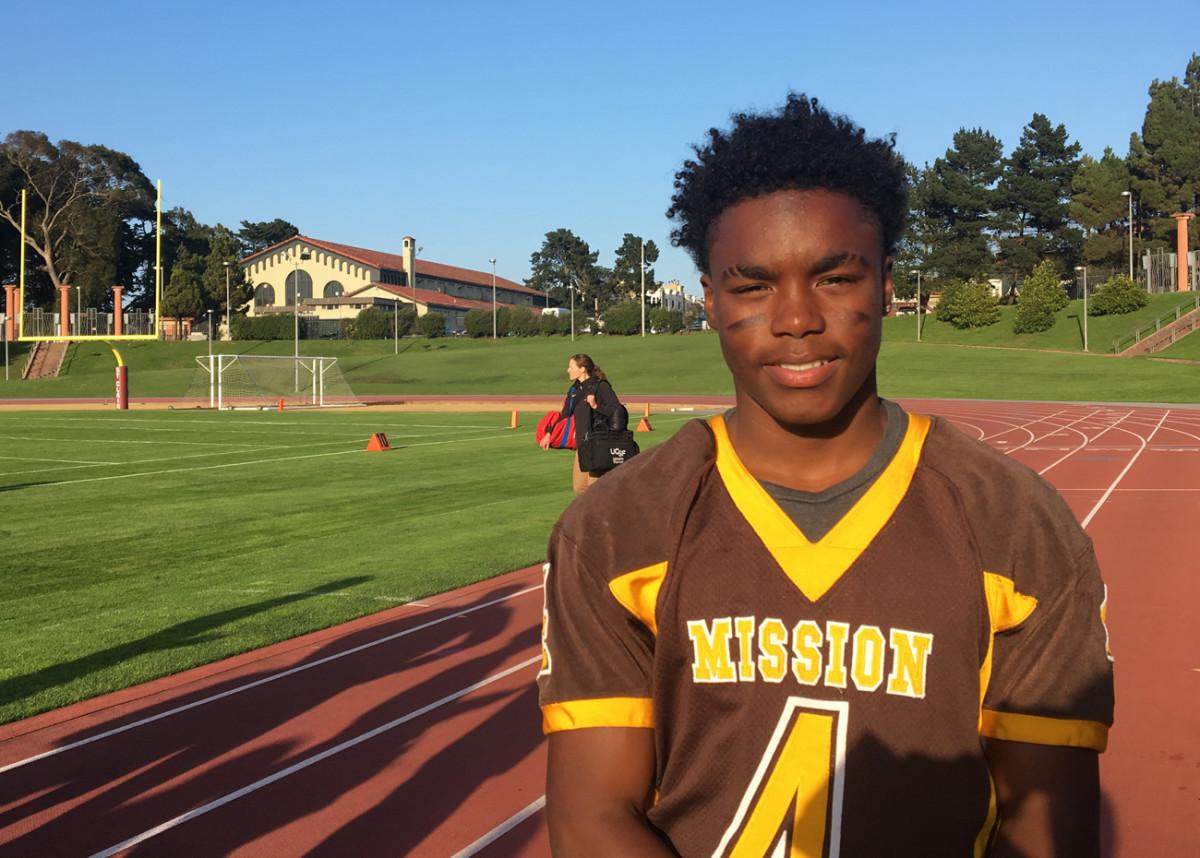Jamal Dixon of Mission High. He has four college acceptances so far.