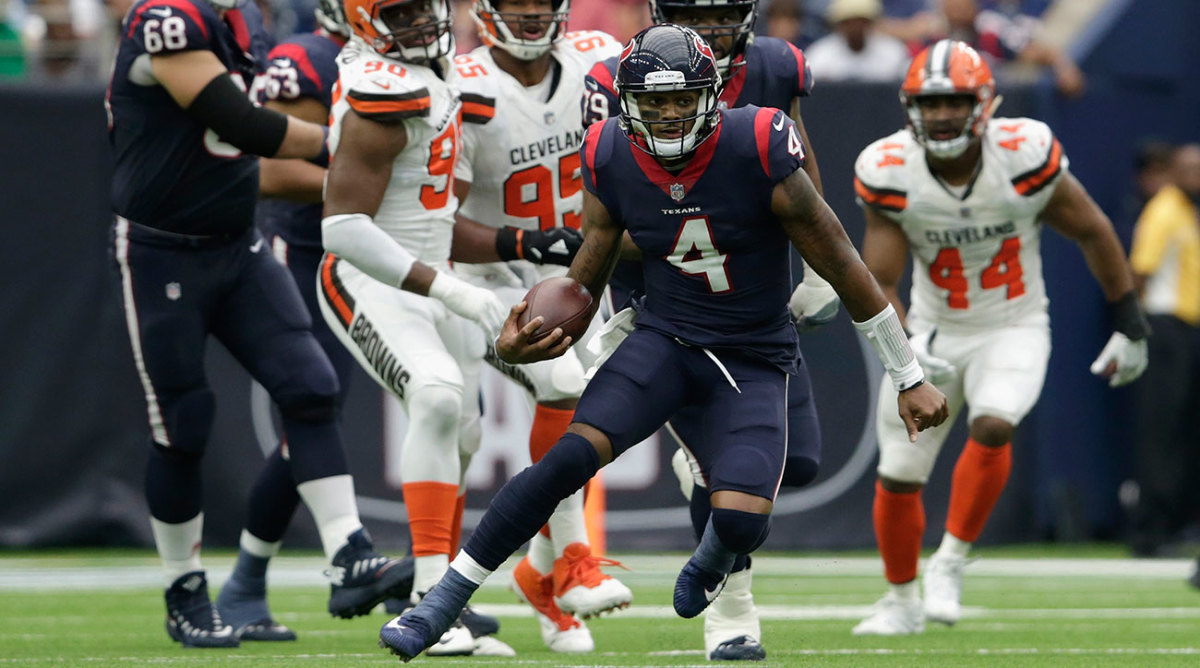 The Browns could not contain Texans QB Deshaun Watson, who scored three more touchdowns in a 33-17 win.