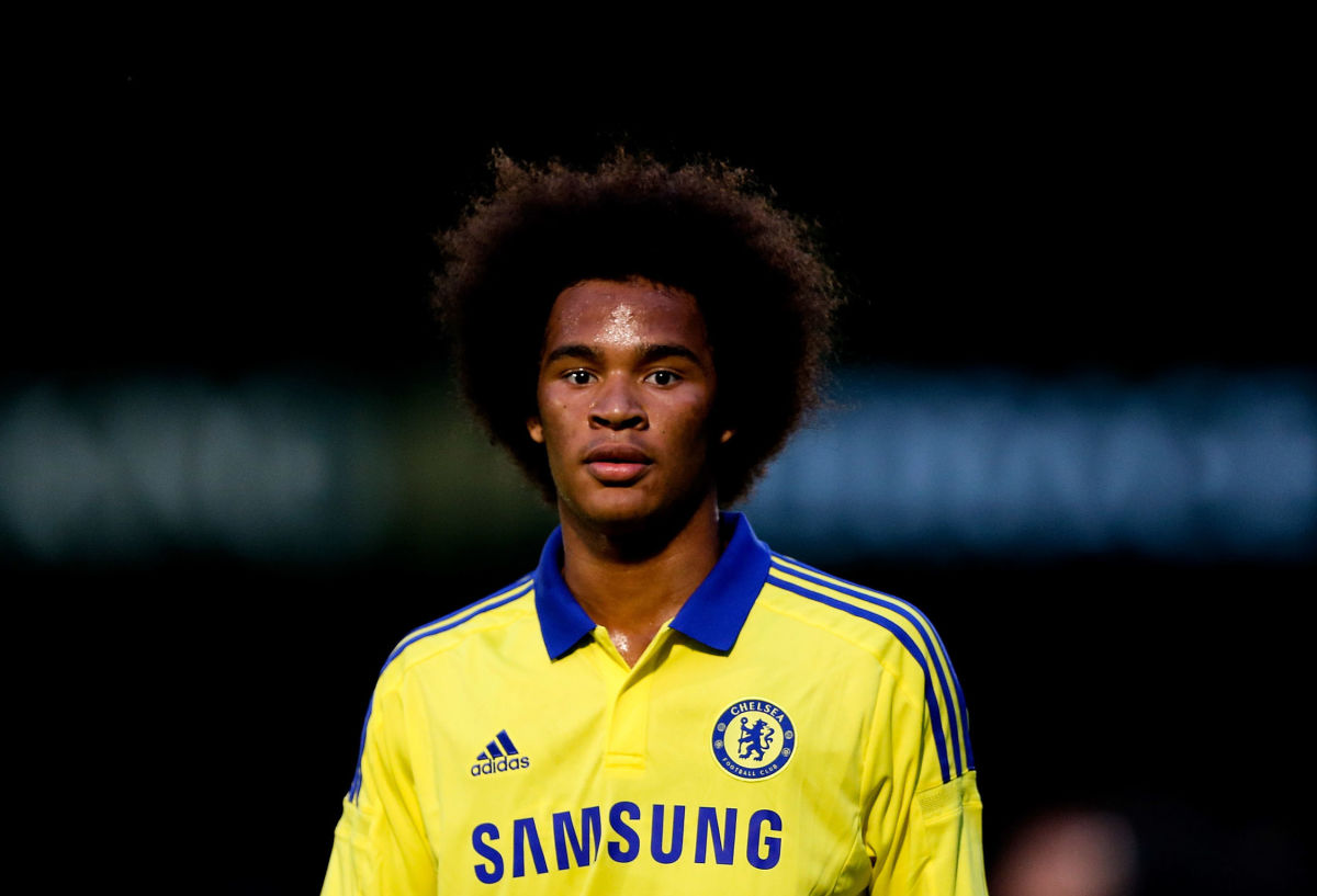 HIGH WYCOMBE, ENGLAND - JULY 16:  Izzy Brown of Chelsea in action duing the pre season friendly match between Wycombe Wanderers and Chelsea at Adams Park on July 16, 2014 in High Wycombe, England.  (Photo by Ben Hoskins/Getty Images)