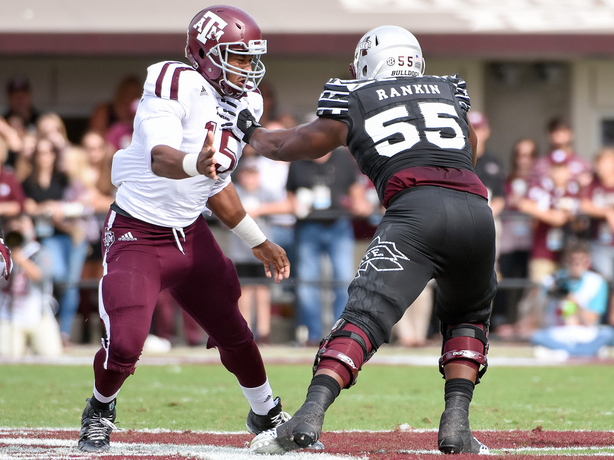 After one more year of blocking the SEC's best edge rushers (as he did last year against No. 1 pick Myles Garrett), Mississippi State's Martinas Rankin could be headed for Round 1 himself.