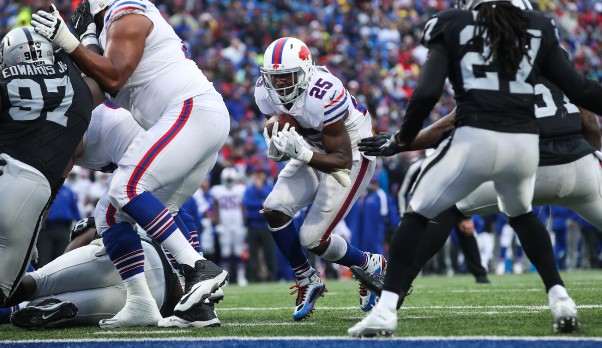 LeSean McCoy has 50 carries for 242 yards and three touchdowns over the Bills' past two games—both Buffalo victories.