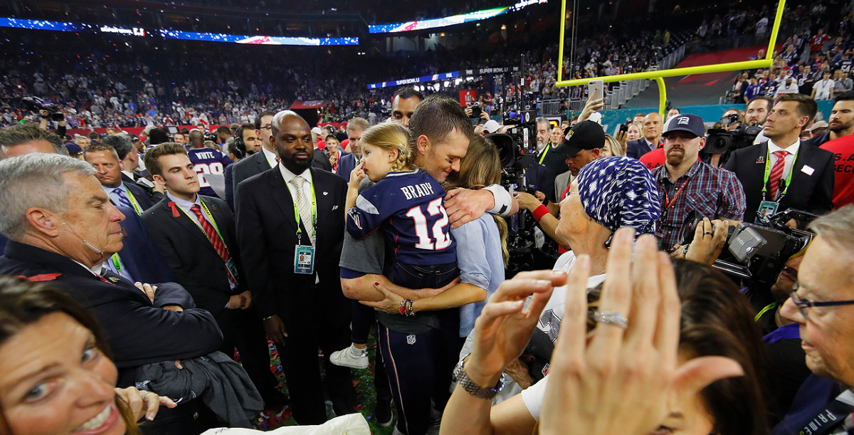 Family played an important role for Tom Brady in the aftermath of Super Bowl 51.