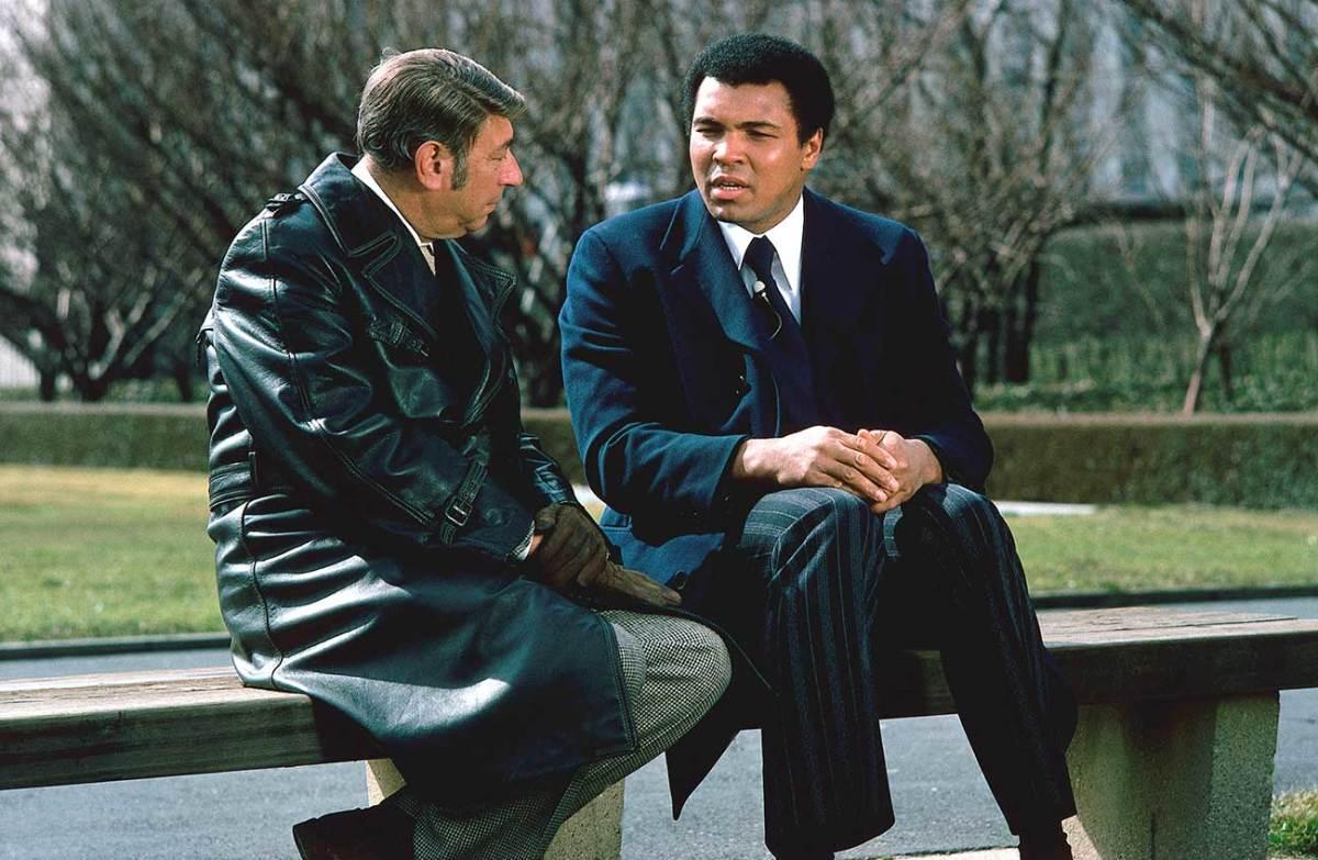 Howard Cosell and Muhammad Ali, 1975.