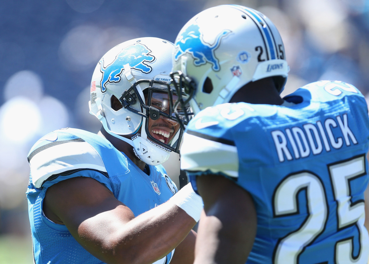 The Lions have the luxury of having two talented, multi-purpose backs in Ameer Abdullah and Theo Riddick.