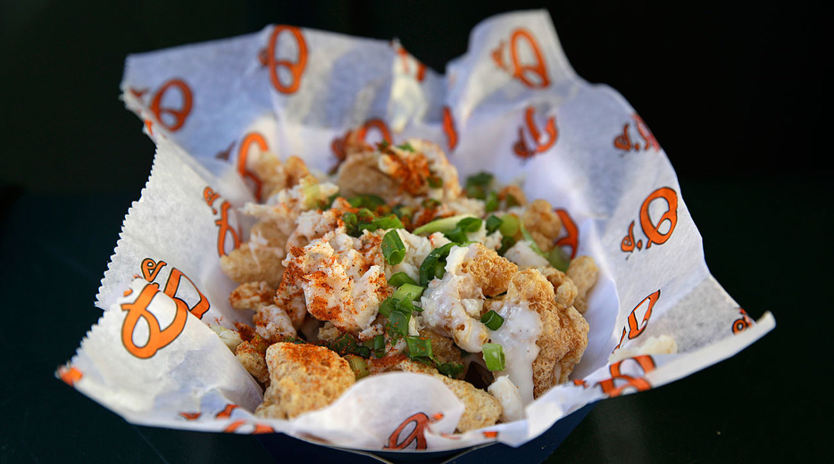 The pork rind chipper from Oriole Park at Camden Yards.