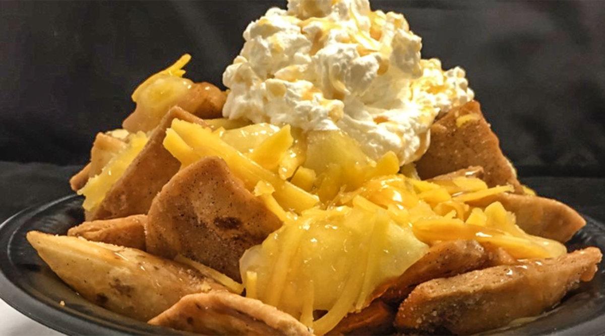 The Rockies offer apple pie nachos.