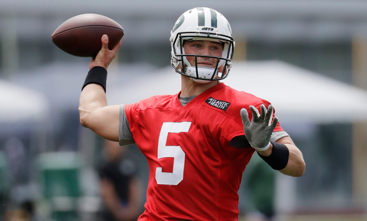 Christian Hackenberg is trying to win the Jets' starting quarterback job during training camp and the preseason.