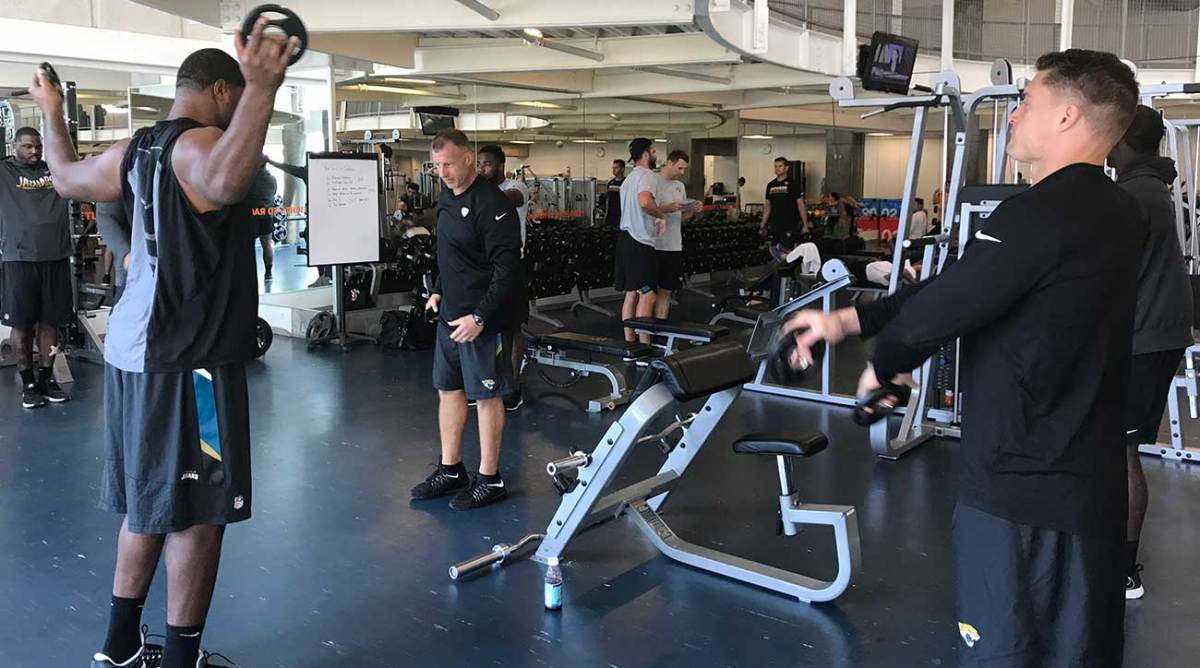 On Monday, Jaguars players worked out at a downtown Houston Y—the Texans had offered their facility but Jacksonville coach Doug Marrone declined, not wanted to inconvenience the Texans on their short week.