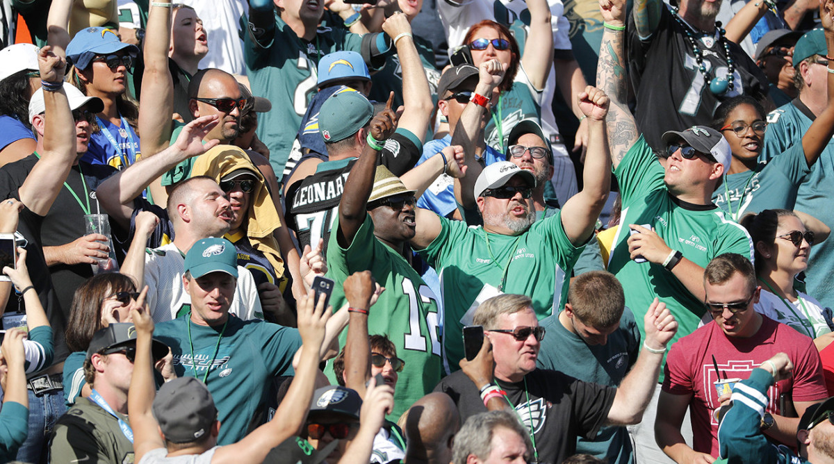 Eagles fans overran the StubHub Center on Sunday, but it wasn't much different in San Diego.