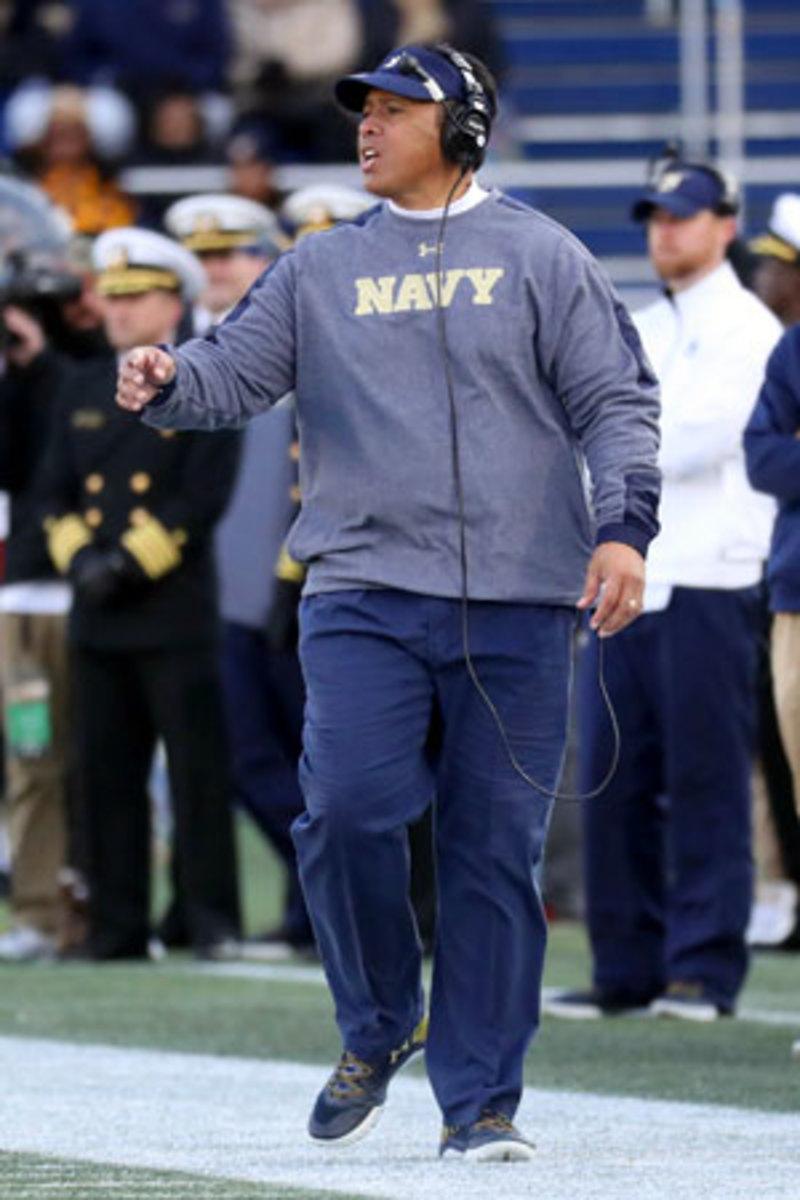 Navy football caoch Ken Niumatalolo.