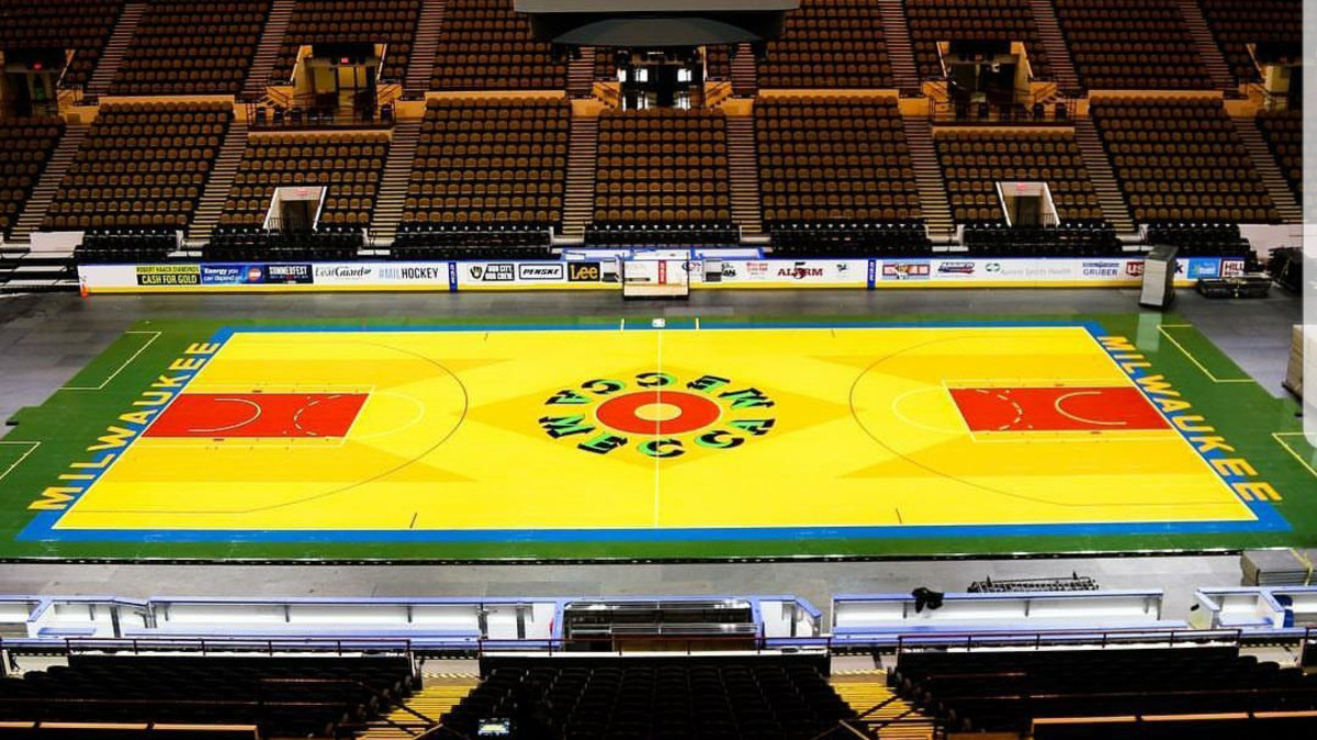 Kyrie Irving Concerned About Bucks Throwback Mecca Court