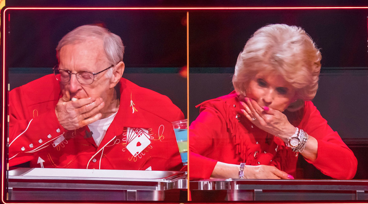 Rich and Carlene on an episode of Little Big Shots: Forever Young.