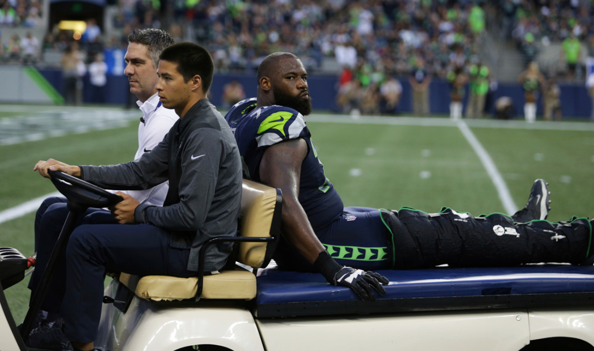 The Seahawks lost starting tackle George Fant to a season-ending knee injury suffered during a preseason game.