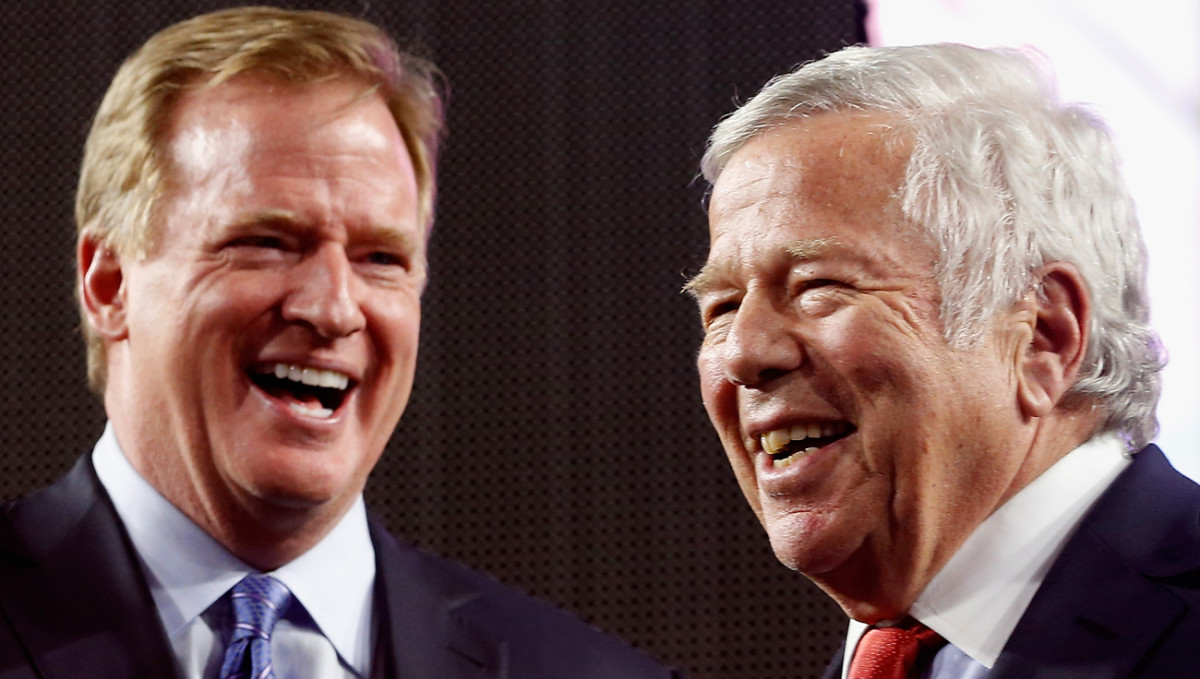 Will it be all smiles the next time Roger Goodell and Robert Kraft share a stage?