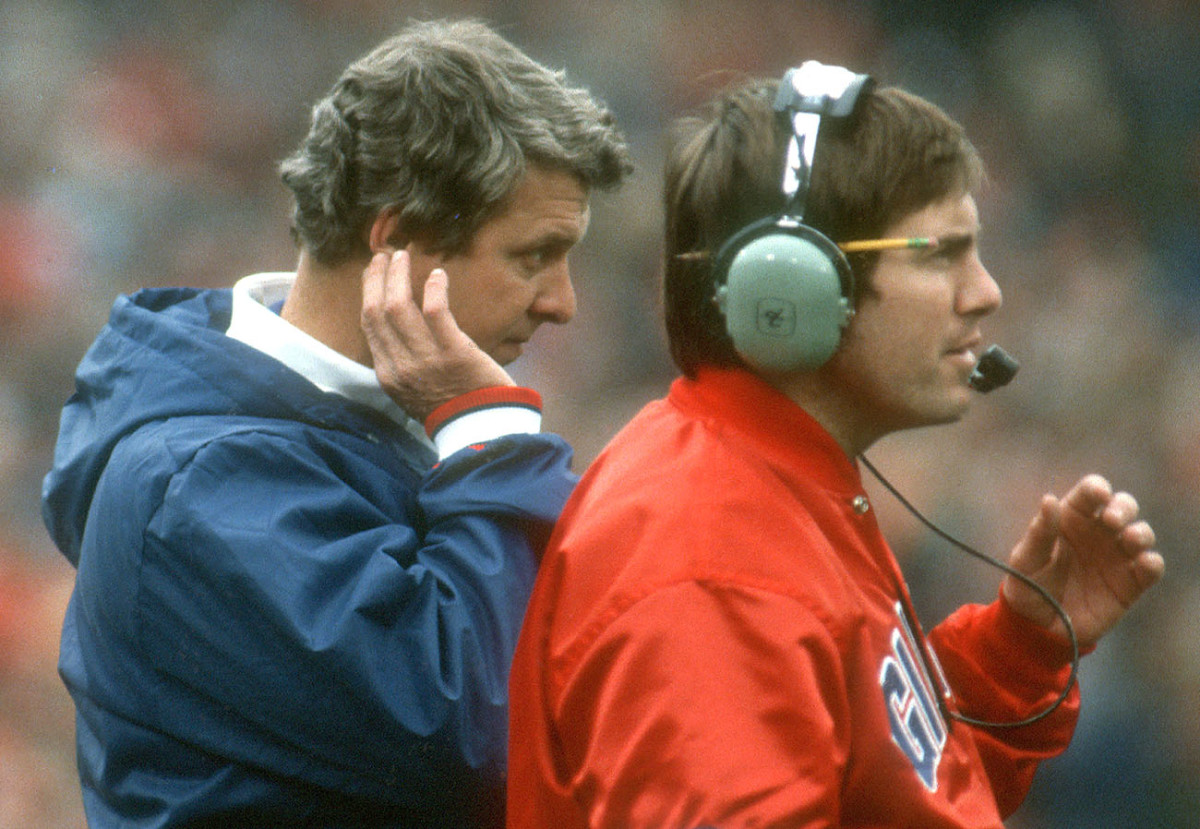 Before he was defensive coordinator for the Giants, Belichick served as linebackers and special teams coach for Bill Parcells in the early 1980s.