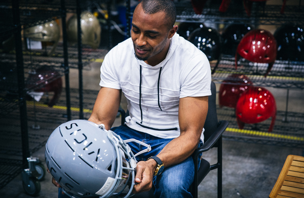 Doug Baldwin serves as a player advisor to VICIS, a small helmet company whose Zero1 model received the NFL's top safety rating.