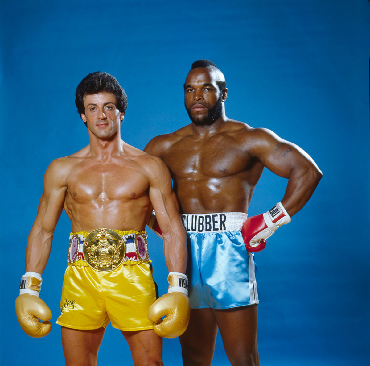 Sylvester Stallone And Mr T Pose For Sports Illustrated In 1982