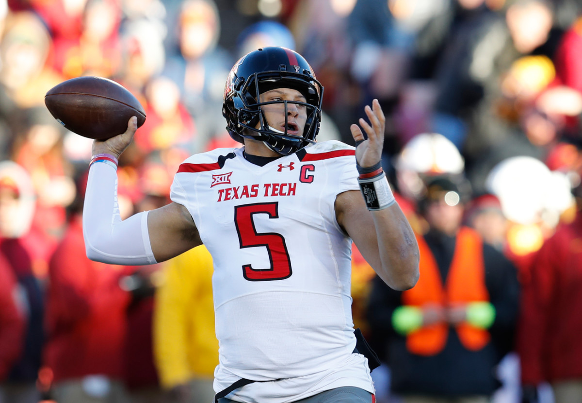 Texas Tech quarterback Pat Mahomes is rocketing up draft boards and could be selected in the top 15 next Thursday.