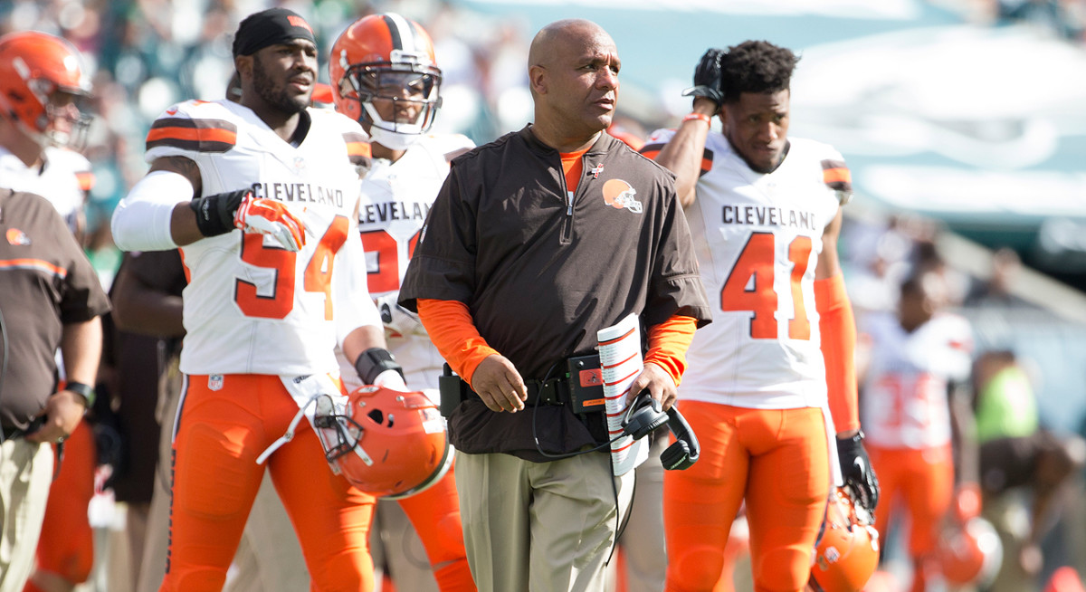 Unfamiliar faces dot the Cleveland sidelines as coach Hue Jackson and the front office try to build the Browns from the ground up.