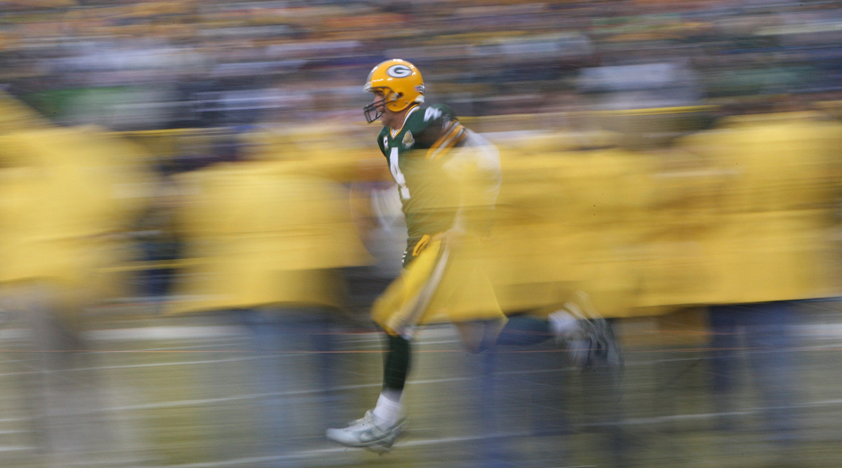 A blur on the field in his heyday—or something like that—Brett Favre is still running in retirement.
