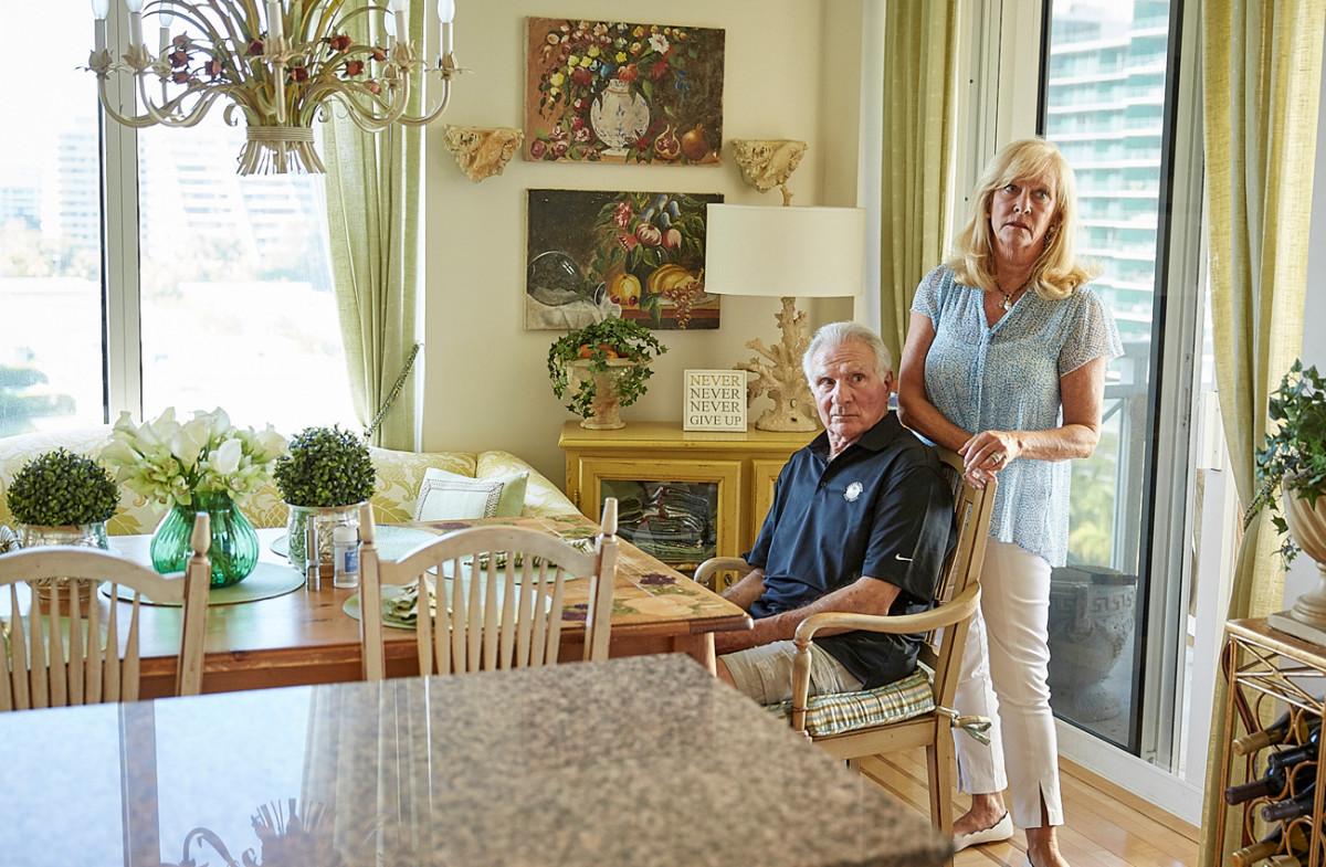 Nick and Lynn at home, May 2017.