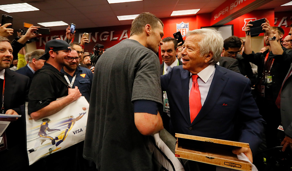 Owner Robert Kraft's teams have been to eight Super Bowls, seven with Tom Brady.