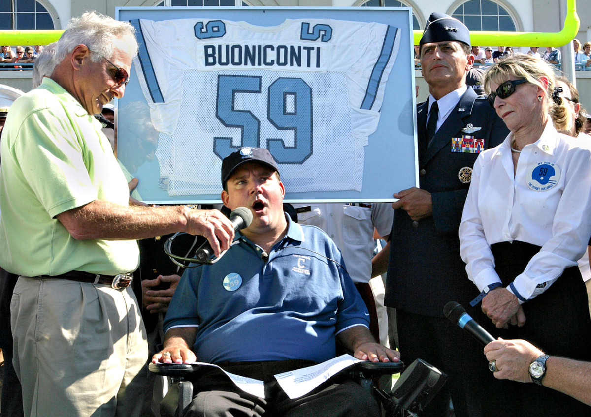 Nick, Marc and Terry return to The Citadel in 2006, two decades after Marc's paralyzing accident.