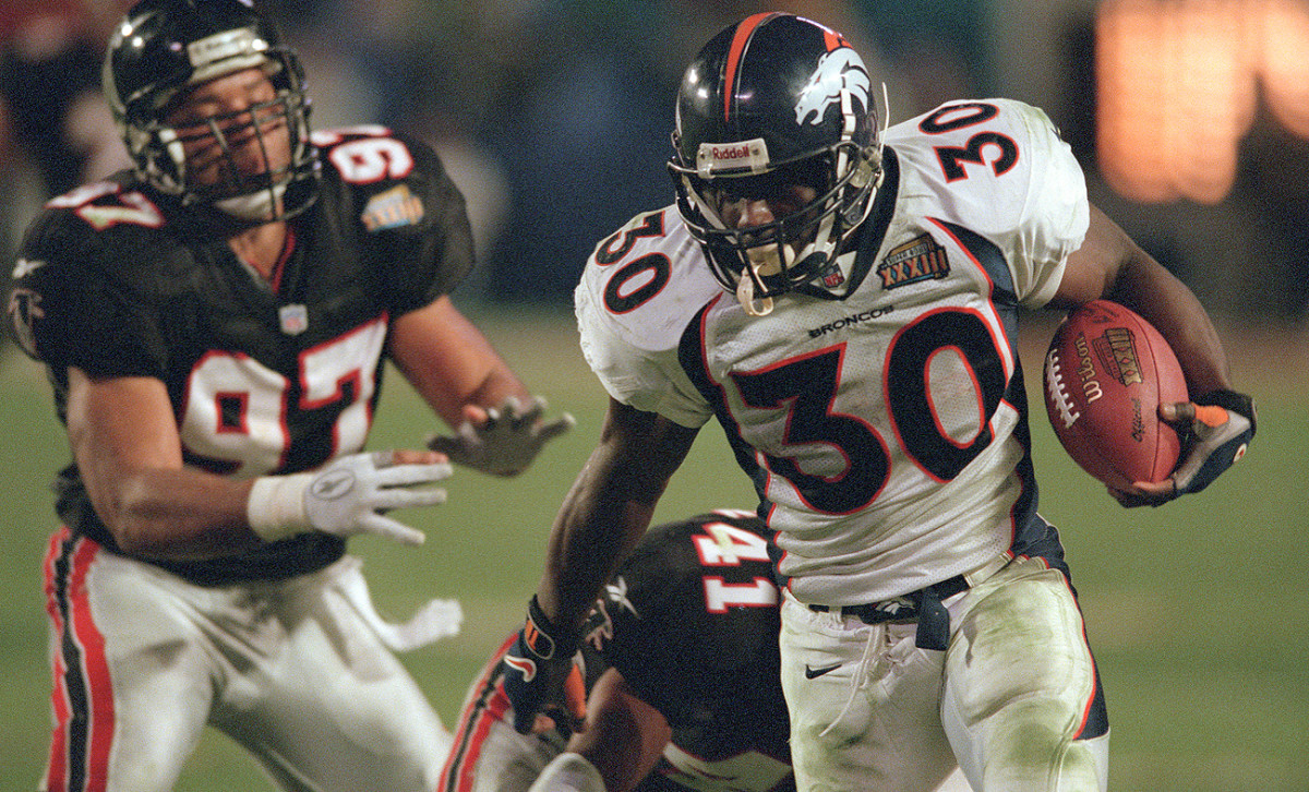 In his seven-year career, Terrell Davis helped lead the Broncos to two Super Bowl wins.