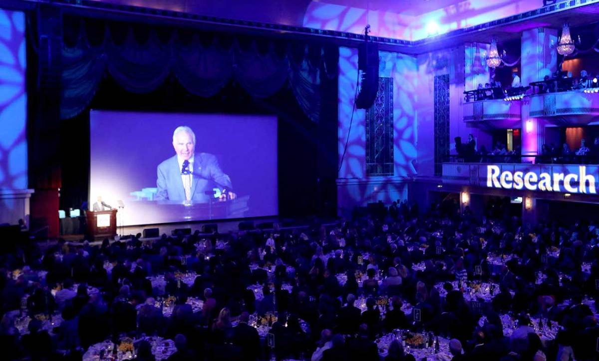 Buoniconti speaks at the 2016 New York City gala for The Buoniconti Fund to Cure Paralysis.