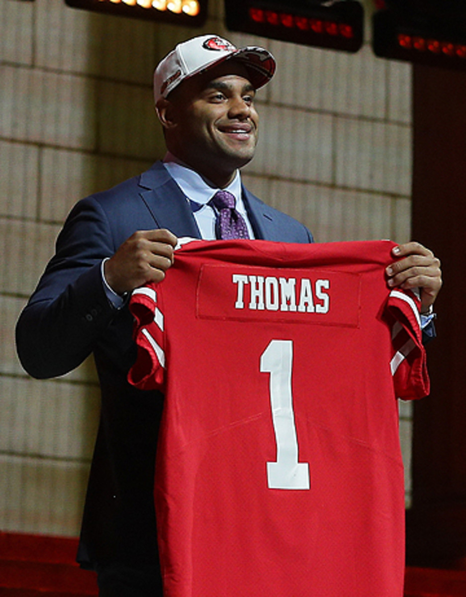 With the No. 3 pick, San Francisco selected Solomon Thomas, who played collegiately at nearby Stanford.