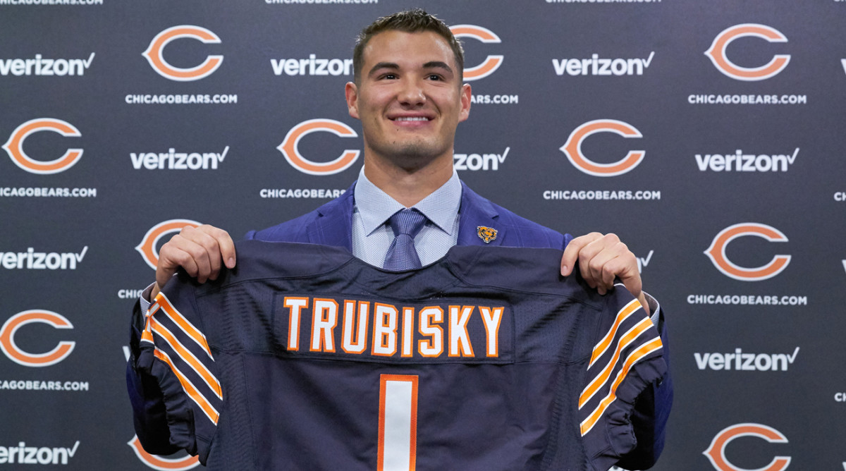 The Bears traded up and used the second pick in the draft on North Carolina quarterback Mitchell Trubisky.