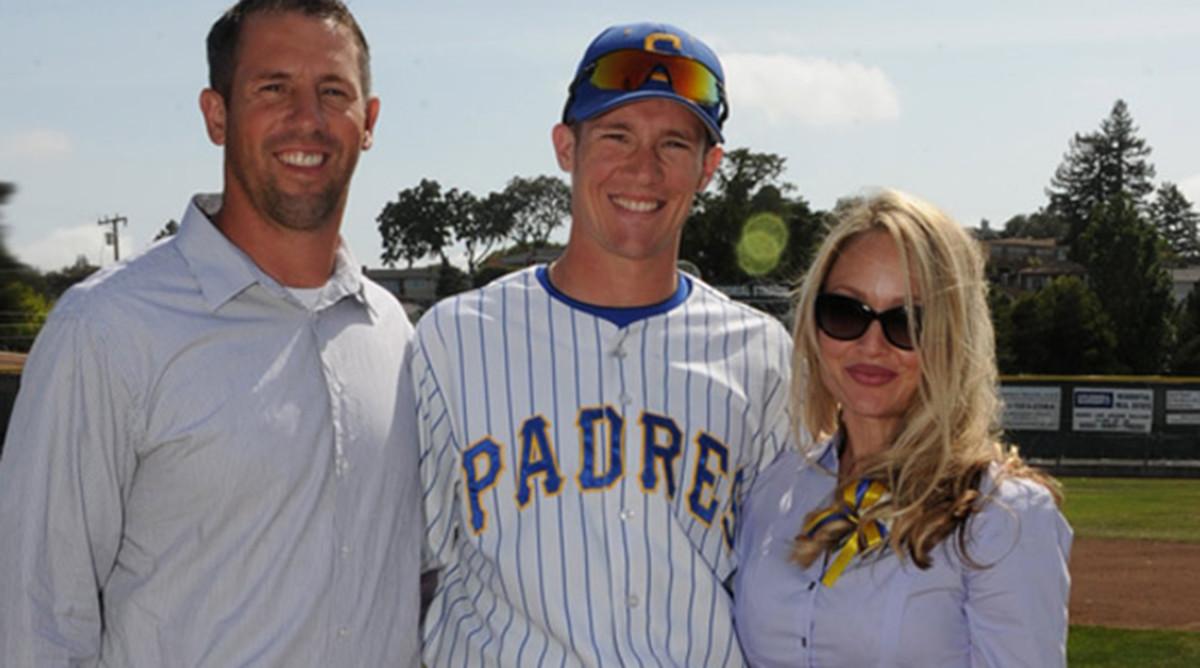 Calvin Riley and his parents, Sean and Kariann.