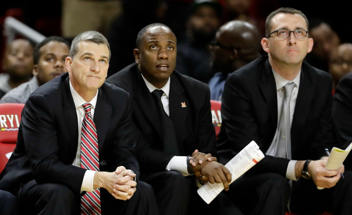 Bino Ranson (center) now serves as an assistant coach for the Maryland men's basketball team.