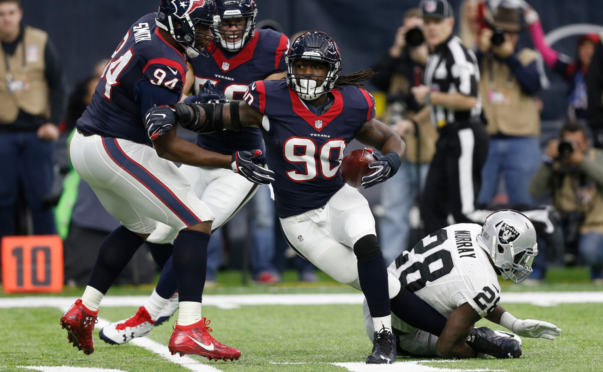 Jadeveon Clowney's interception put the Raiders in an early hole and the Texans took advantage.