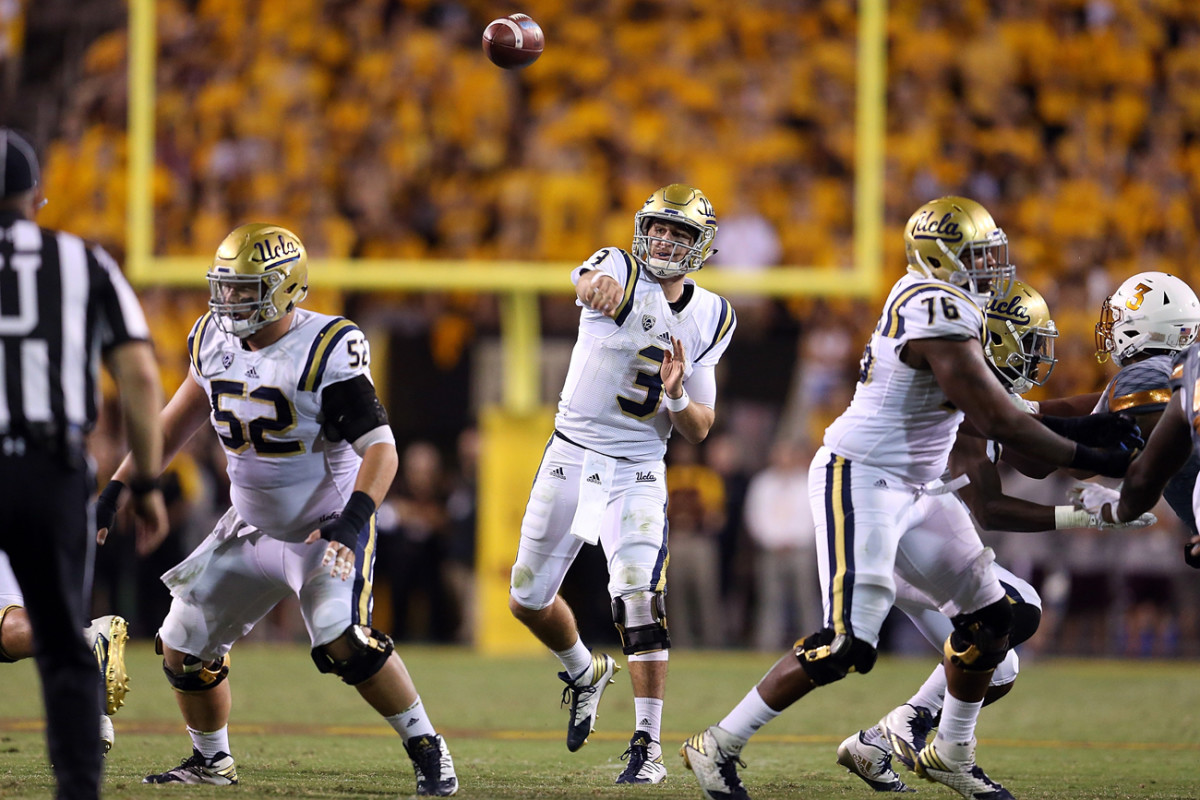UCLA quarterback Josh Rosen could have an impact on the 2018 draft, if the rising junior declares early.
