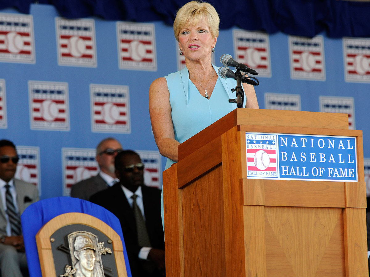 Vicki Santo gave the speech when her late husband was finally enshrined in Cooperstown in the summer of 2012.