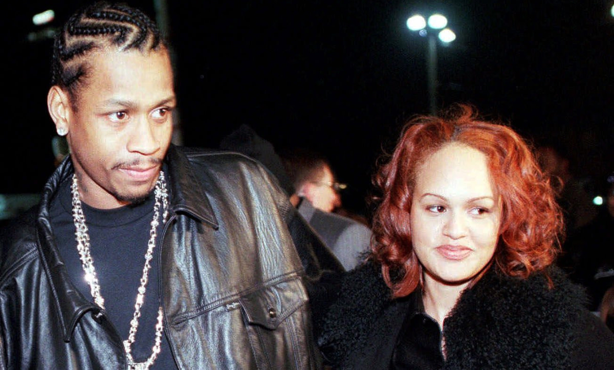 "Iverson with his then fianceé Tawanna, in 2000. ""I still get cursed out for the same things I was doing 15 years ago,"" he says now."