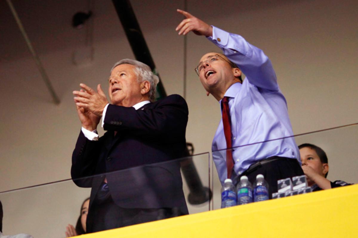 Robert Kraft and Jonathan Kraft.