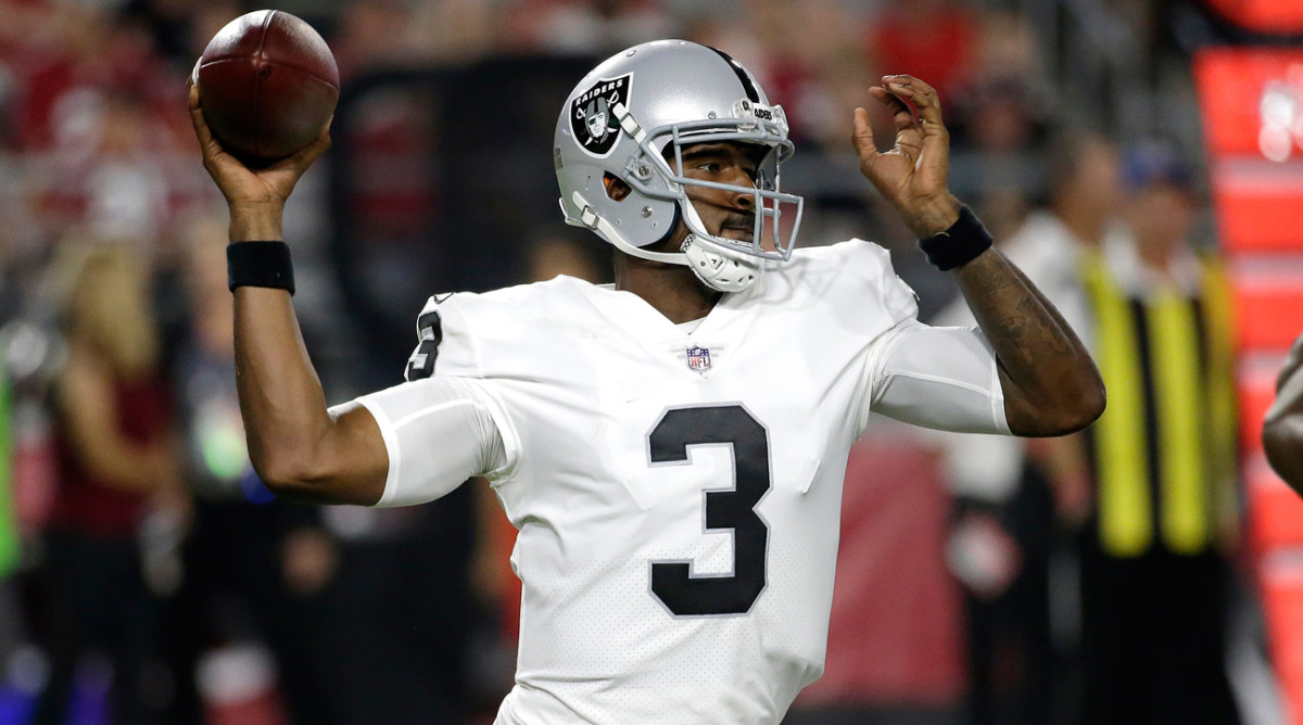 Former Bills first-round pick E.J. Manuel is now a backup for the Raiders. Manuel started 17 games over four seasons in Buffalo and went 6-11.