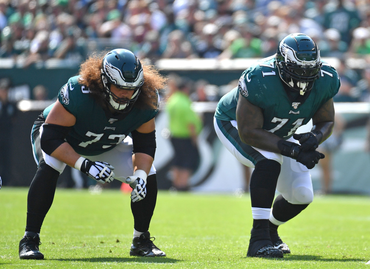 Isaac Seumalo and Jason Peters line up side by side now, but it won't be long until Andre Dillard is next to Seumalo permanently