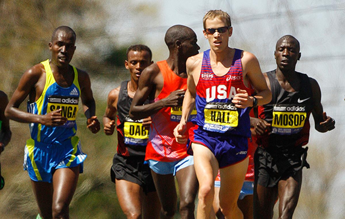 Ryan Hall at the Boston Marathon 2011