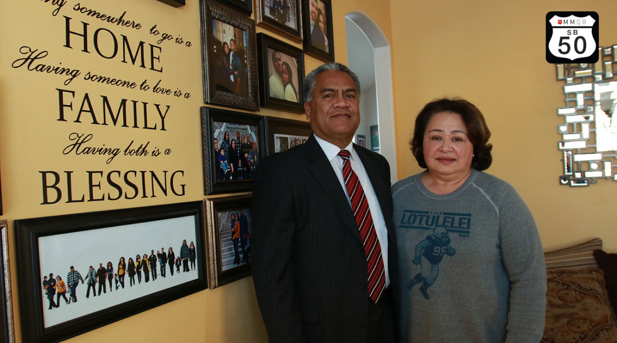Star Lotulelei Sr. and his wife Pesatina will travel from their Utah home to see their son Star Jr. play in Super Bowl 50.