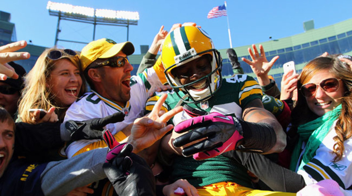 Donald Driver had plenty of opportunities to hone his leap, having scored 28 touchdowns at Lambeau.
