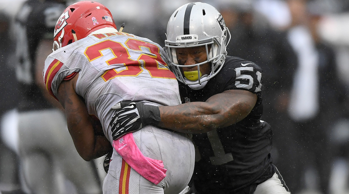 The Chiefs got the best of Bruce Irvin and the Raiders, 26-10, in their Oct. 16 meeting.