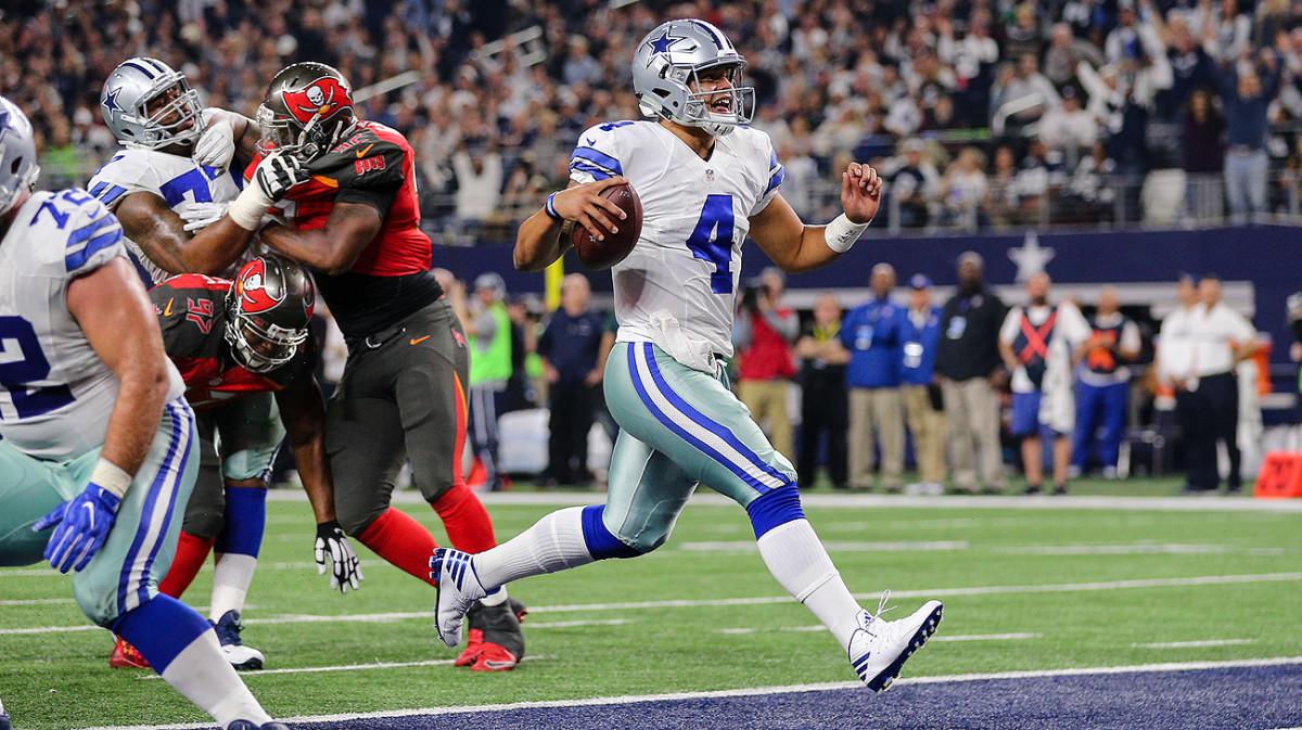 Rookie quarterback Dak Prescott has led the Cowboys to an NFC-best 12-2 record.