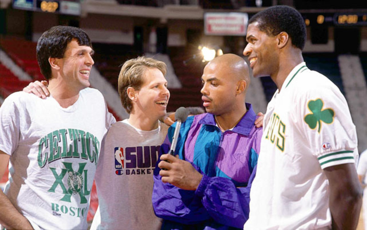 Charles Barkley, Danny Ainge, Kevin McHale and Robert Parish