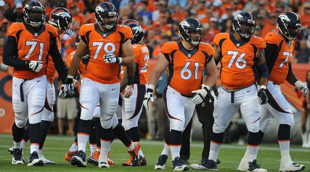 The Broncos line gave up 40 sacks, tied for fifth-most in the NFL.