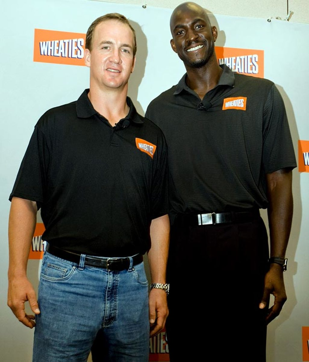 Peyton Manning and Kevin Garnett