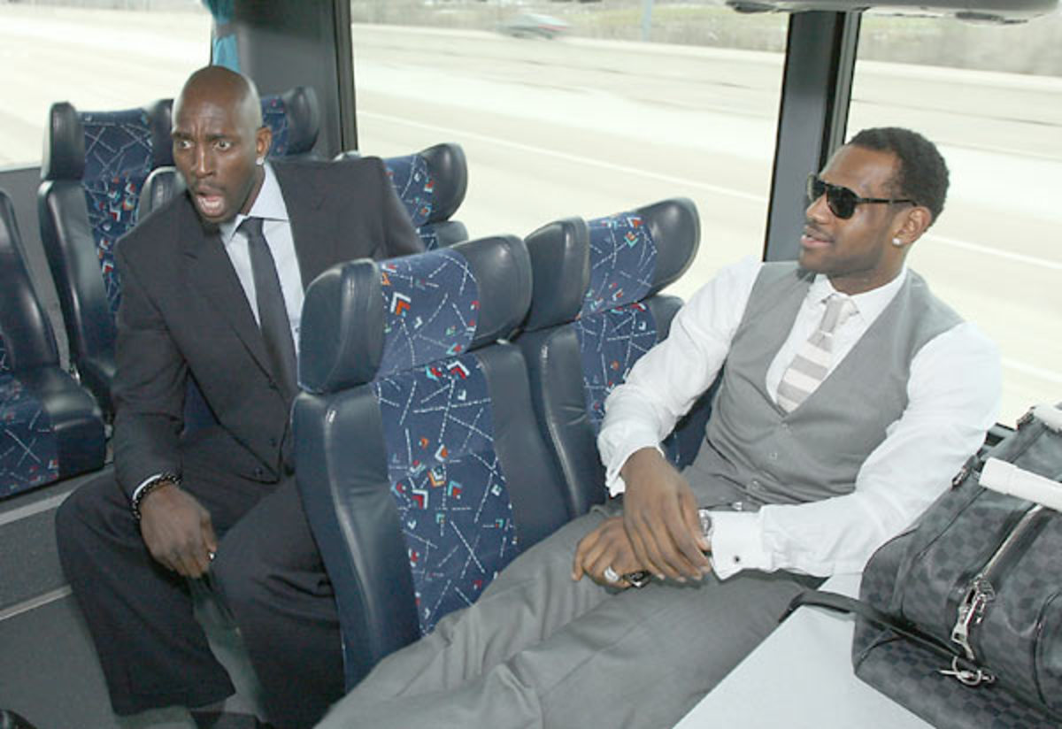 Kevin Garnett and LeBron James