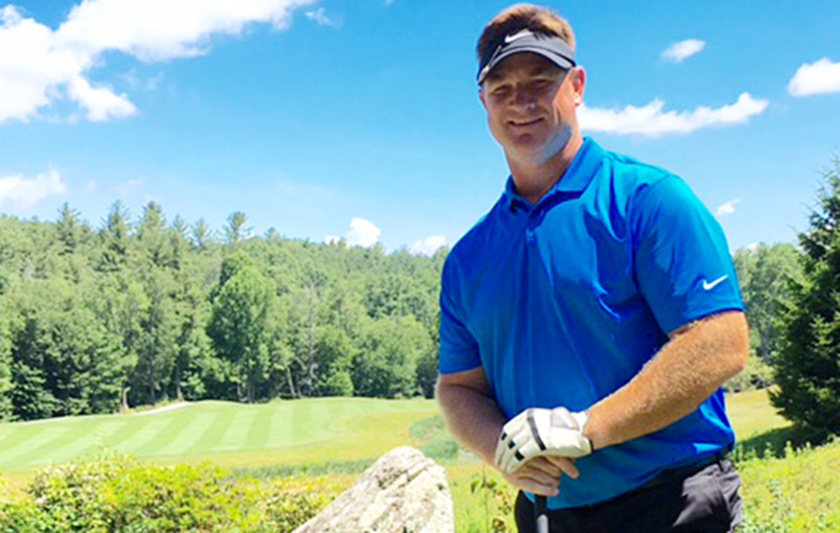 After a 17-year NFL career, Johnson now enjoys spending his time with family, and on the golf course.